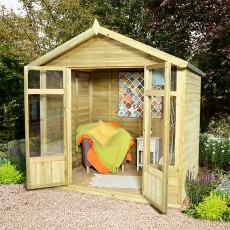 7 x 5 (2.1 x 1.5m) Forest Tetbury Overlap Summerhouse Pressure Treated