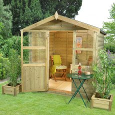 6 x 6 (1.8 x 1.8m) Forest Charlbury Shiplap Summerhouse Pressure Treated