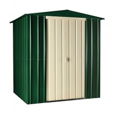 6 x 4 (1.71m x 1.13m) Lotus Apex Metal Shed (Heritage Green)
