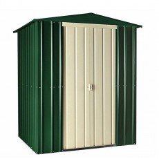 6 x 6 (1.71m x 1.75m) Lotus Apex Metal Shed (Heritage Green)