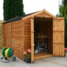 10 x 6 (3.12m x 1.79m) Mercia Overlap Shed - No Windows