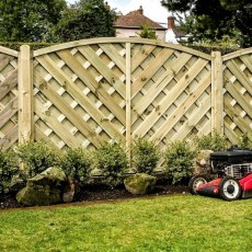 6ft High (1800mm) Grange Elite St Lunairs  Fencing - Natural