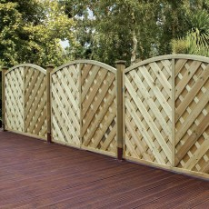 3ft High (900mm) Grange Elite St Lunairs  Fencing - Natural