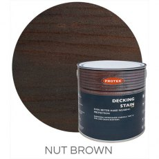 Protek Decking Stain 2.5 Litres - Nut Brown