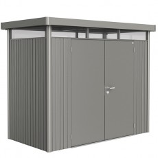 9 x 5 (2.75m x 1.55m) Biohort Highline H1 Metal Shed Double Doors