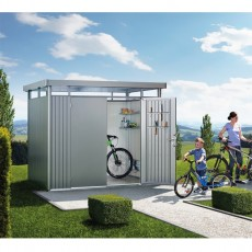 9 x 6 (2.75m x 1.95m) Biohort Highline H2 Metal Shed Double Doors