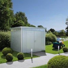 9 x 9 (2.75m x 2.75m) Biohort Highline H4 Metal Shed Double Doors