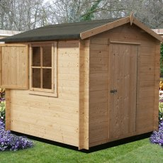 10G x 10 (2.99m x 2.99m) Goodwood Camelot Log Cabin (19mm Logs)