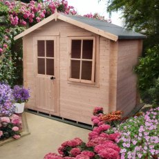 8G x 6 (2.19m x 1.59m) Shire Avesbury Log Cabin (19mm Logs)