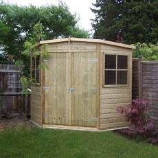 7 x 7 (2.07m x 2.07m) Shire Corner Pressure Treated Shed