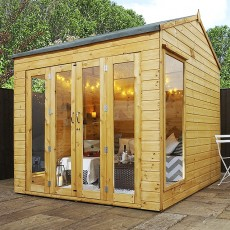 8 x 8 (2.38m x 2.39m) Mercia Vermont Summerhouse