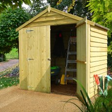 4 x 6 (1.20m x 1.83m) Shire Overlap Pressure Treated Shed - Windowless