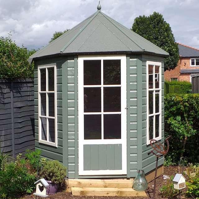 Shire Summerhouse Gazebo 6 X 7 1 87m X 2 16m Elbec