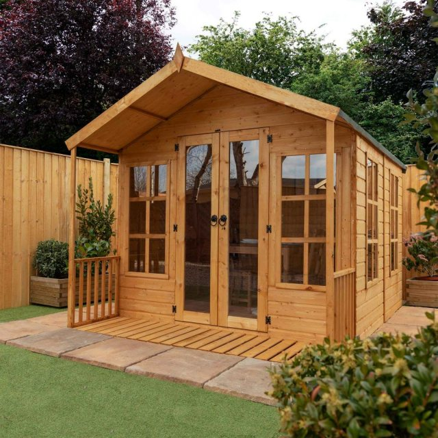 Mercia Premium Traditional T&G Summerhouse with Veranda