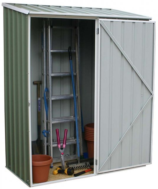 Mercia Space Saver Metal Shed in Eucalyptus