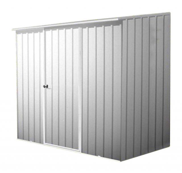 Mercia Space Saver Metal Shed in Zinc Finish