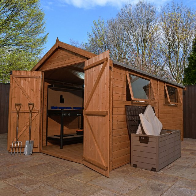 Mercia 12 x 8 (3.80m x 2.62m) Mercia Premium Shiplap Shed with Double Doors