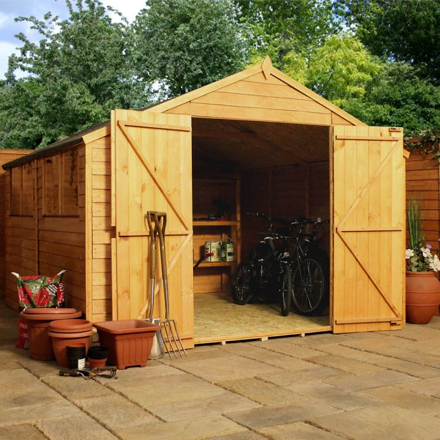 Mercia 10 x 10 (3.02m x 3.09m) Mercia Overlap Workshop Shed