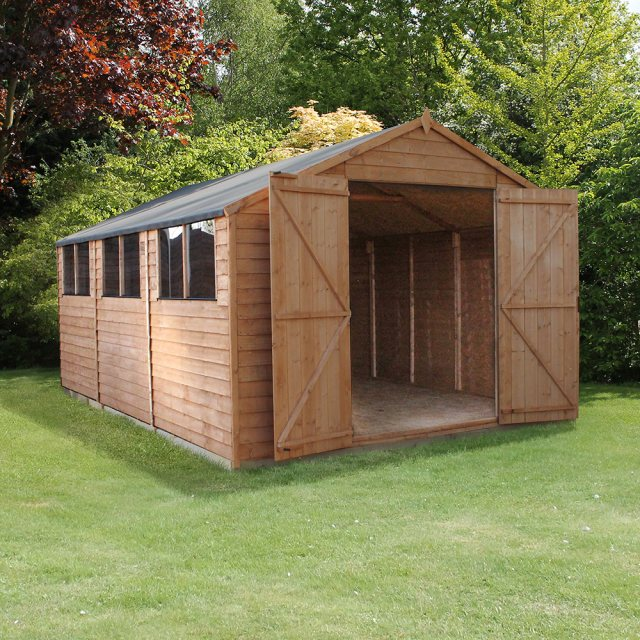 Mercia 15 x 10 (4.53m x 3.09m) Mercia Modular Overlap Workshop Shed