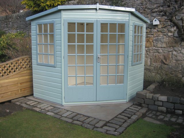 Goodwood 8 x 8 (2.39m x 2.39m) Goodwood Gold Windsor Corner Summerhouse