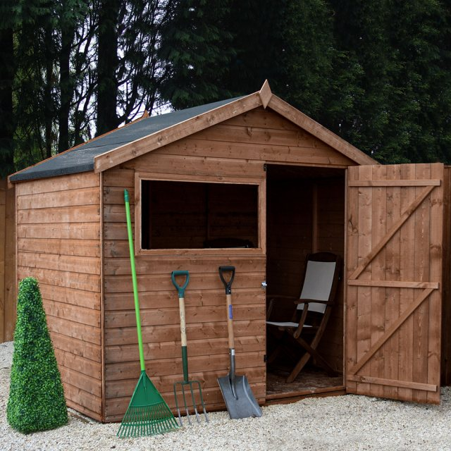Mercia 6 x 8 (1.89m x 2.49m) Mercia Shiplap Apex Shed with Single Door