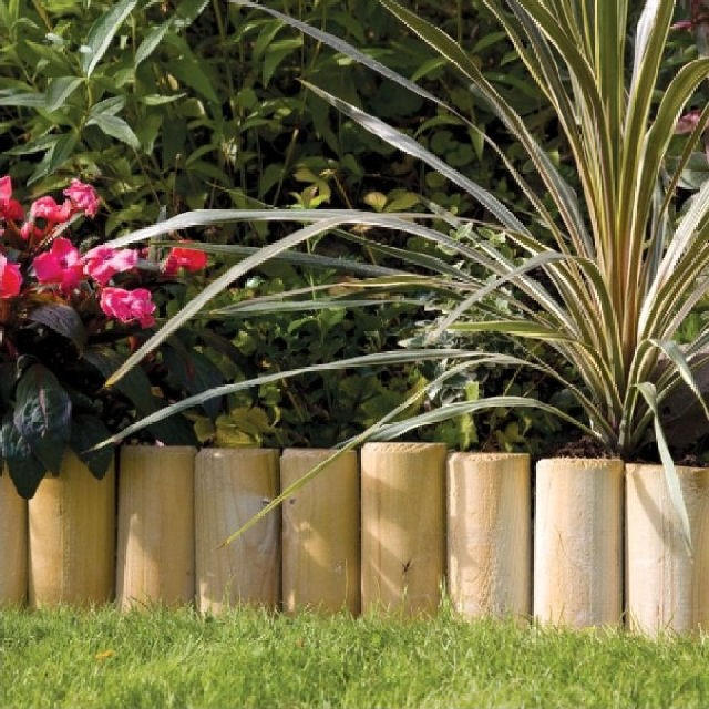 Grange 9in (225mm) High Grange Log Roll Edging (Pack of 4)