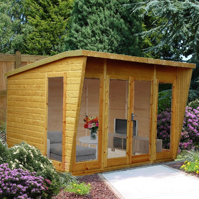 Shire 10 x 10 (3.06m x 2.99m) Shire Highclere Summerhouse