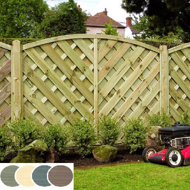 Grange Elite St Lunairs Colour Fencing - Sage Green
