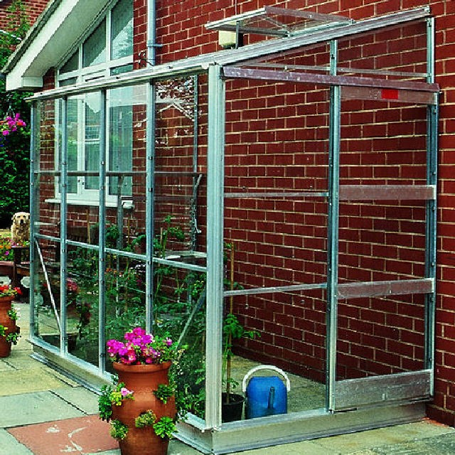 "Elite 4'4"" (1.30m) Wide Elite Kensington 4 Aluminium Lean To Greenhouse Range"