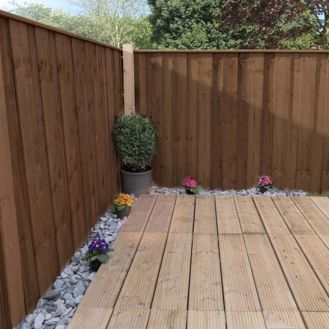 Mercia 3ft High (915mm) Mercia Closeboard Vertical Hit and Miss Fencing Packs - Pressure Treated