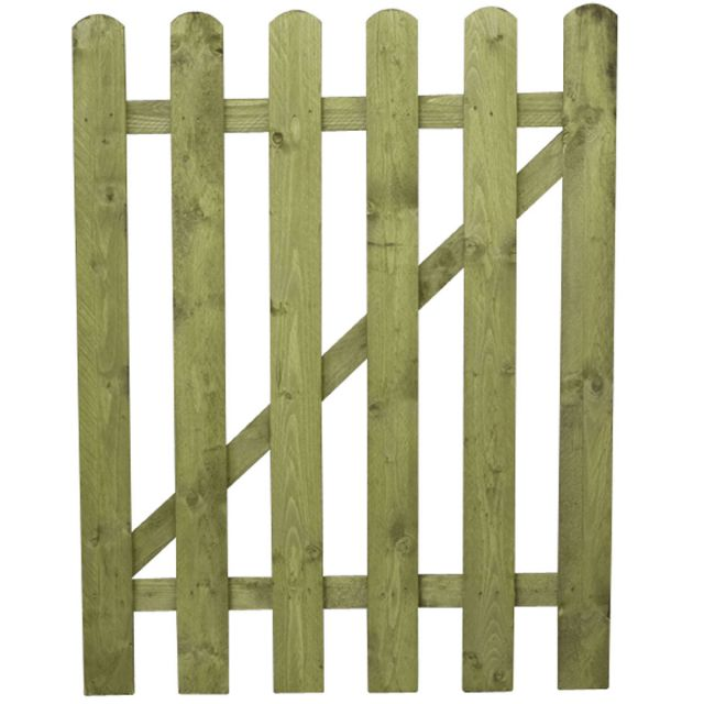 Mercia Round Top Palisade Gate - Pressure Treated