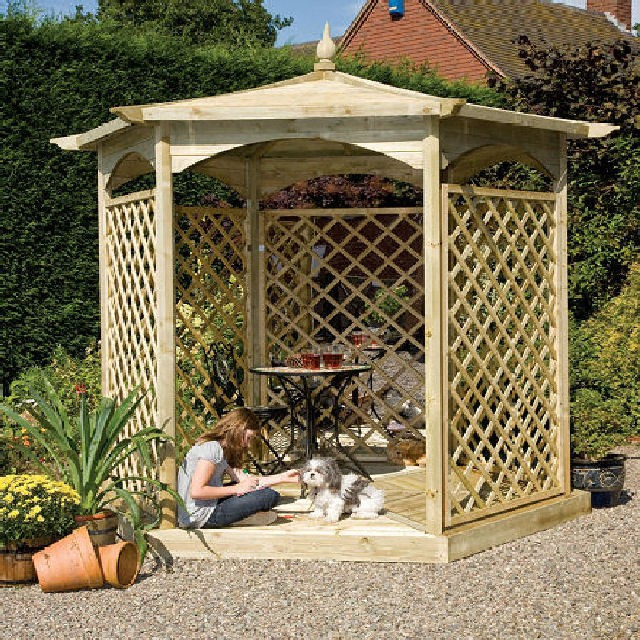 Grange Grange Budleigh Gazebo with Side Panels (Dressed C)