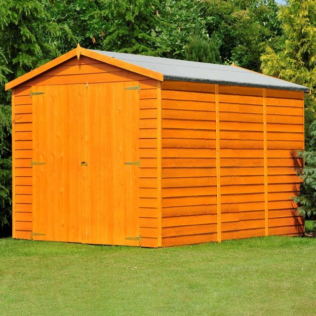 12 x 6 Overlap Windowless Shed with Double Doors
