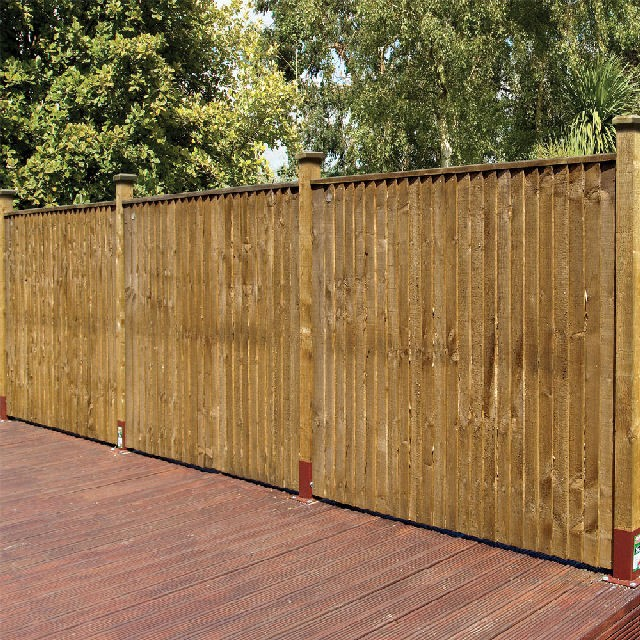 Grange Weston Closeboard Fencing - Golden Brown