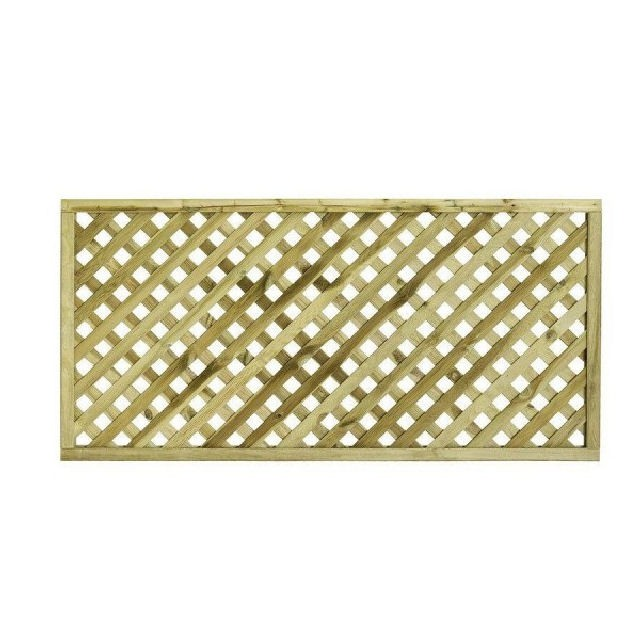 Grange Elite Square Top Lattice Trellis - Pressure Treated