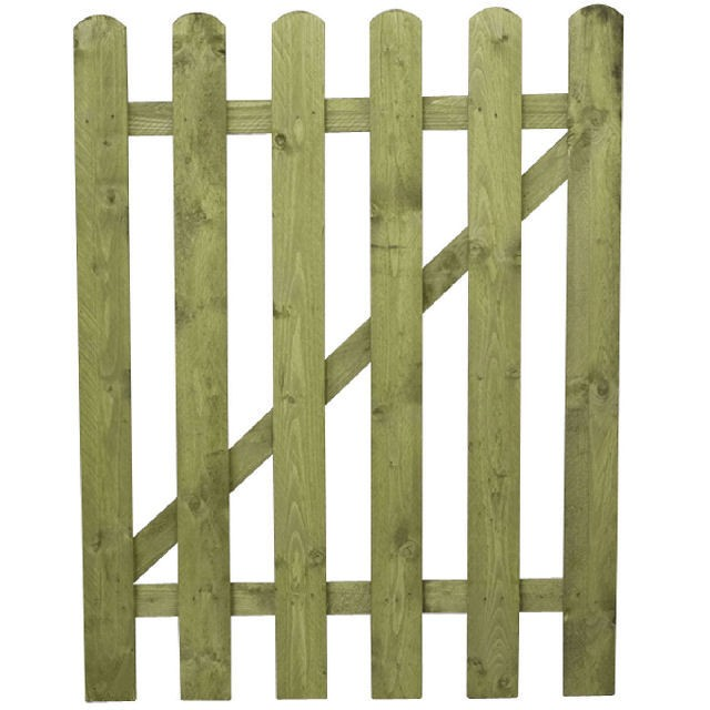4ft Mercia Palisade Round Top Gate Pressure Treated