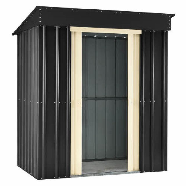 Lotus Pent Metal Shed (Slate Grey)