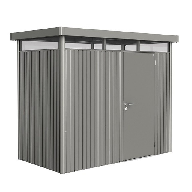 9x5 (2.75m x 1.55m) Biohort Highline H1 Metal Shed Single Door