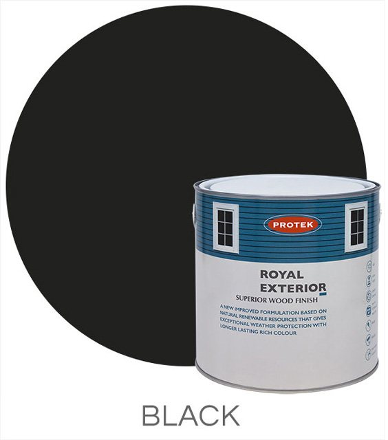 Protek Royal Exterior Paint 5 Litres - Black