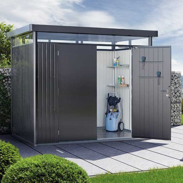 9 x 8 (2.75m x 2.35m) Biohort Highline H3 Metal Shed Double Doors
