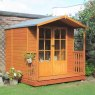 Shire 7 x 7 (1.98m x 2.05m)  Shire Alnwick Summerhouse with Verandah