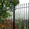 Grange 3ft High (900mm) Metpost Wenlock Ball Top Metal Fence Packs