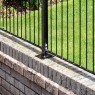 Grange 3ft High (935mm) Metpost Montford Spear Top Metal Fence Packs