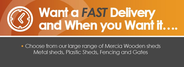 FAST DELIVERY ON MERCIA AND SHERIFF FENCING AND GATES