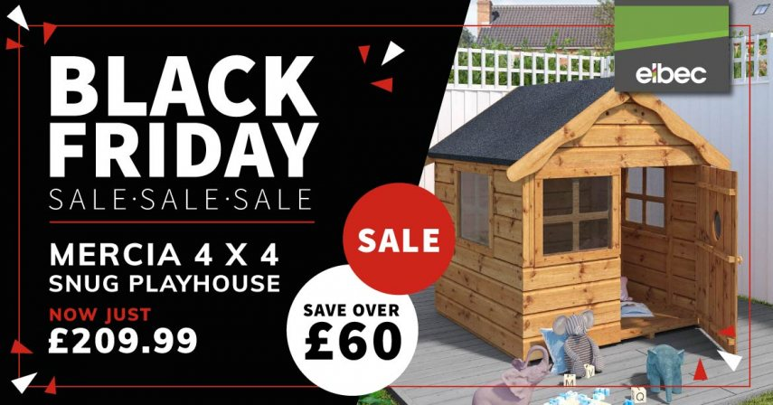 Mercia Snug Playhouse - BLACK FRIDAY OFFER - CATEGORY PAGE