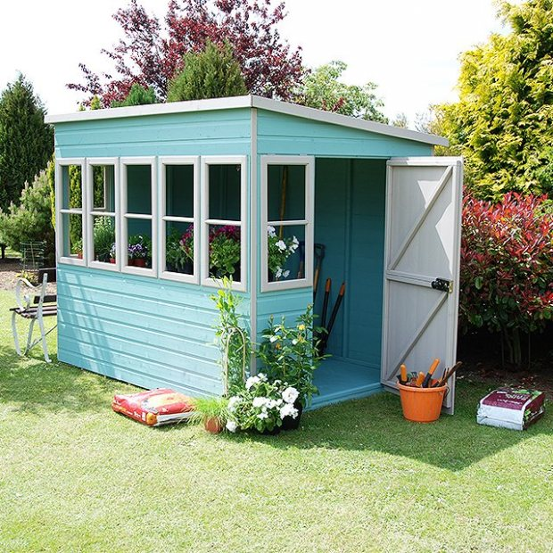 Shire Sun Pent Shiplap Potting Shed