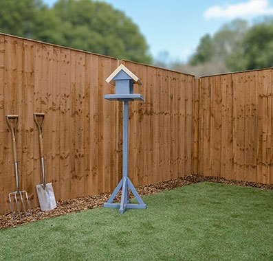6ft High (1829mm) Mercia Closeboard Vertical Hit and Miss Fence Panels - Pressure Treated