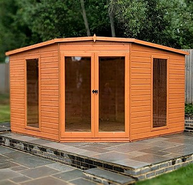10 x 10  (2.99m x 2.99m) Shire Barclay Corner Summerhouse