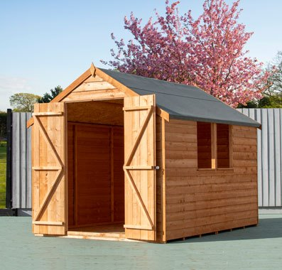 8 x 6 (2.40m x 1.83m) Shire Value Overlap Shed - Double Doors