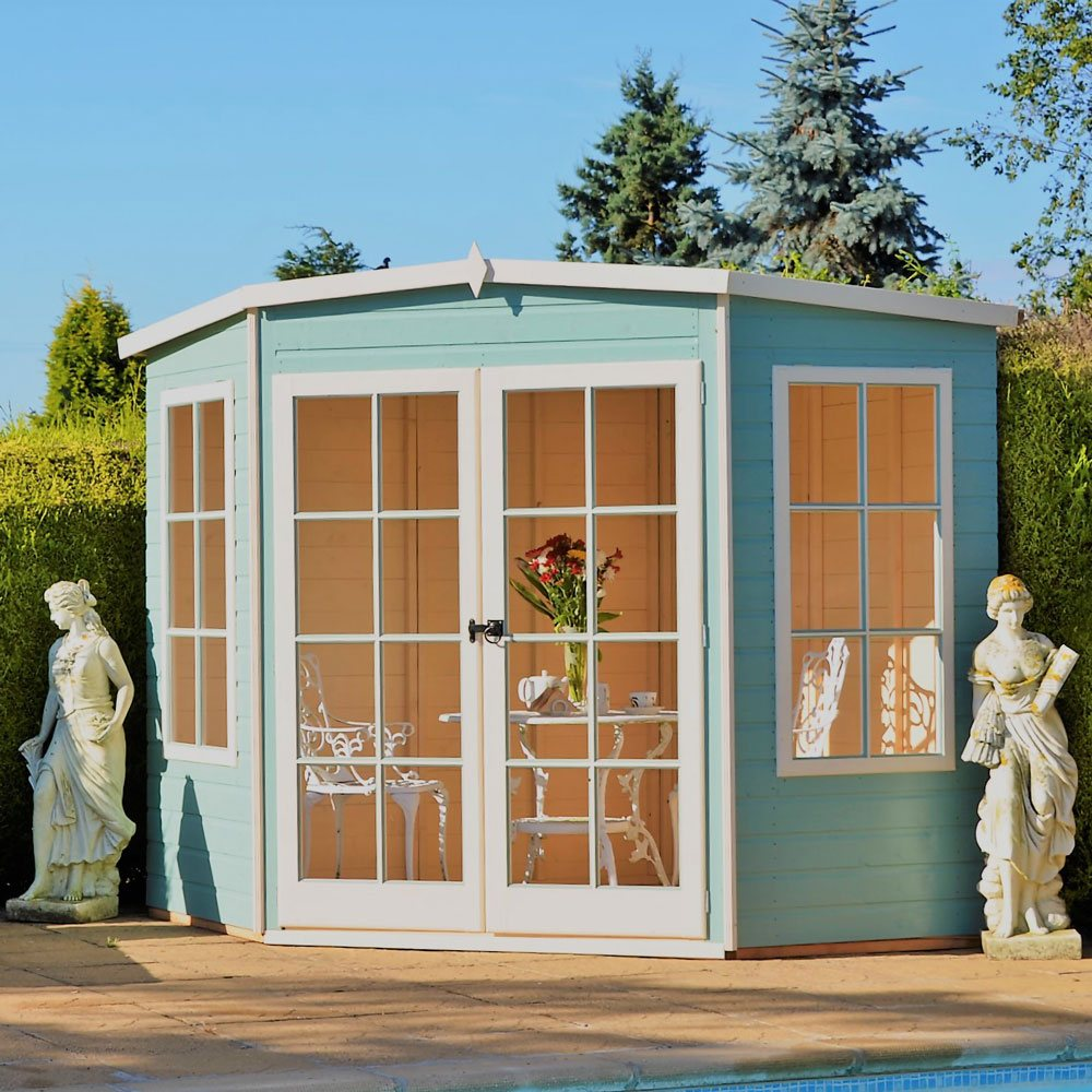 Shire Hampton Corner Summerhouse 7 X 7 2 05m X 2 05m